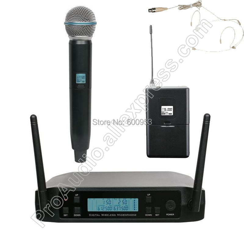 MICWL UHF Frequency Adjustable Beige Headset Wireless Dynamic Handheld Microphone System For Karaoke Church Club 610-650MHz micwl 2038 high end 8 handheld uhf led digital radio cordless wireless karaoke microphones system