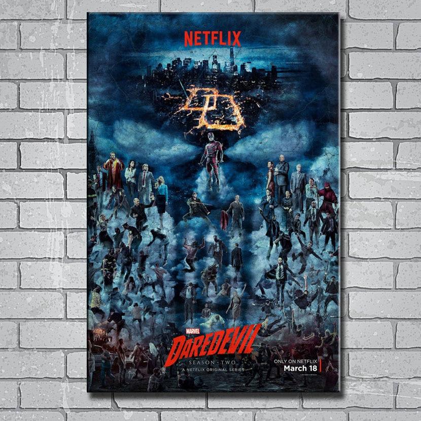 DAREDEVIL Superhero New TV Series Silk Fabric Poster Canvas Print 12x18 24x36