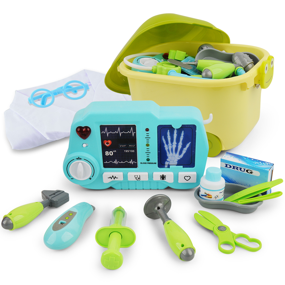 Doctor Toy Set Portable Backpack Medical Kit Kids Educational 31 Pcs oyuncak Classic toys For Children