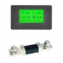 GC91 DC 6-200V 50A 100A 200A 300A display Digitale coulombometro energy power watt Tensione Amp meter amperometro voltmetro