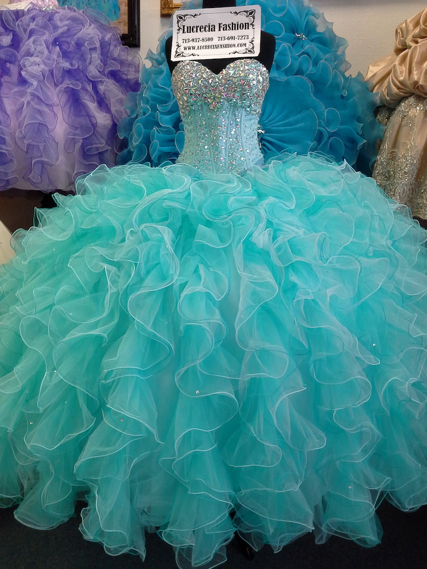 Aqua Sweet 16 Dresses Cheap Quinceanera Gowns 2017 Vestido ...