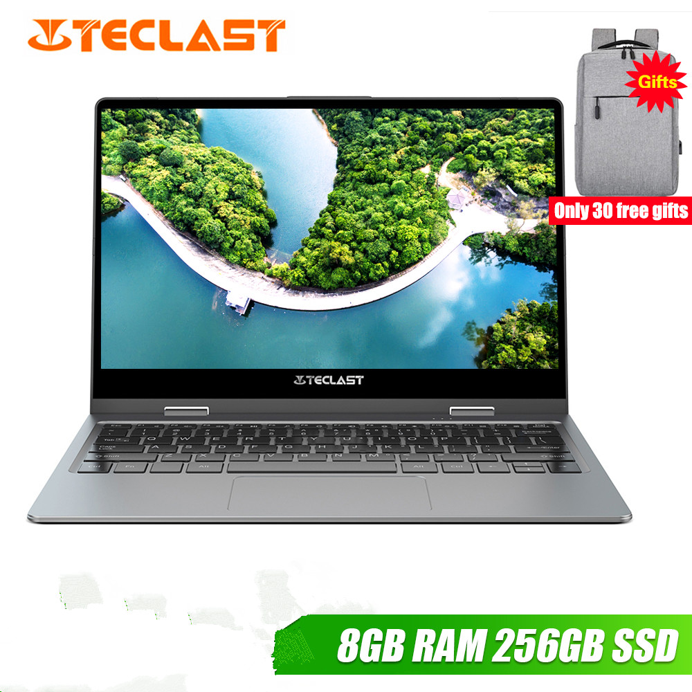 Teclast F5R Laptop 11.6'' IPS Windows 10 OS Intel APLLO LAKE N3450 Quad Core 8GB RAM 256GB SSD 360° Rotation Touch Screen HDMI(China)