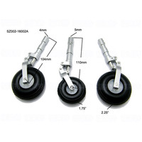 SZ002 16002 Aluminum Alloy Anti Shock Leg Landing Gear With Wheels For 120 Class RC Airplane