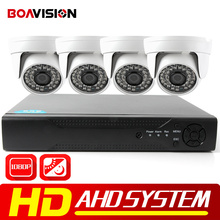 BOAVISION 4CH 1080 P AHD DVR Система 1920*1080 2000TVL Купол Ночного Видения Камеры Наблюдения ИК CCTV комплекты для главная Безопасность
