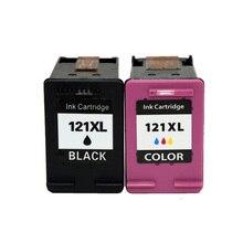 2 Pcs Pour HP 121 xl Cartouche D'encre Pour HP Deskjet D2563 F4283 F2423 F2483 F2493 F4213 F4275 F4283 F4583 imprimante