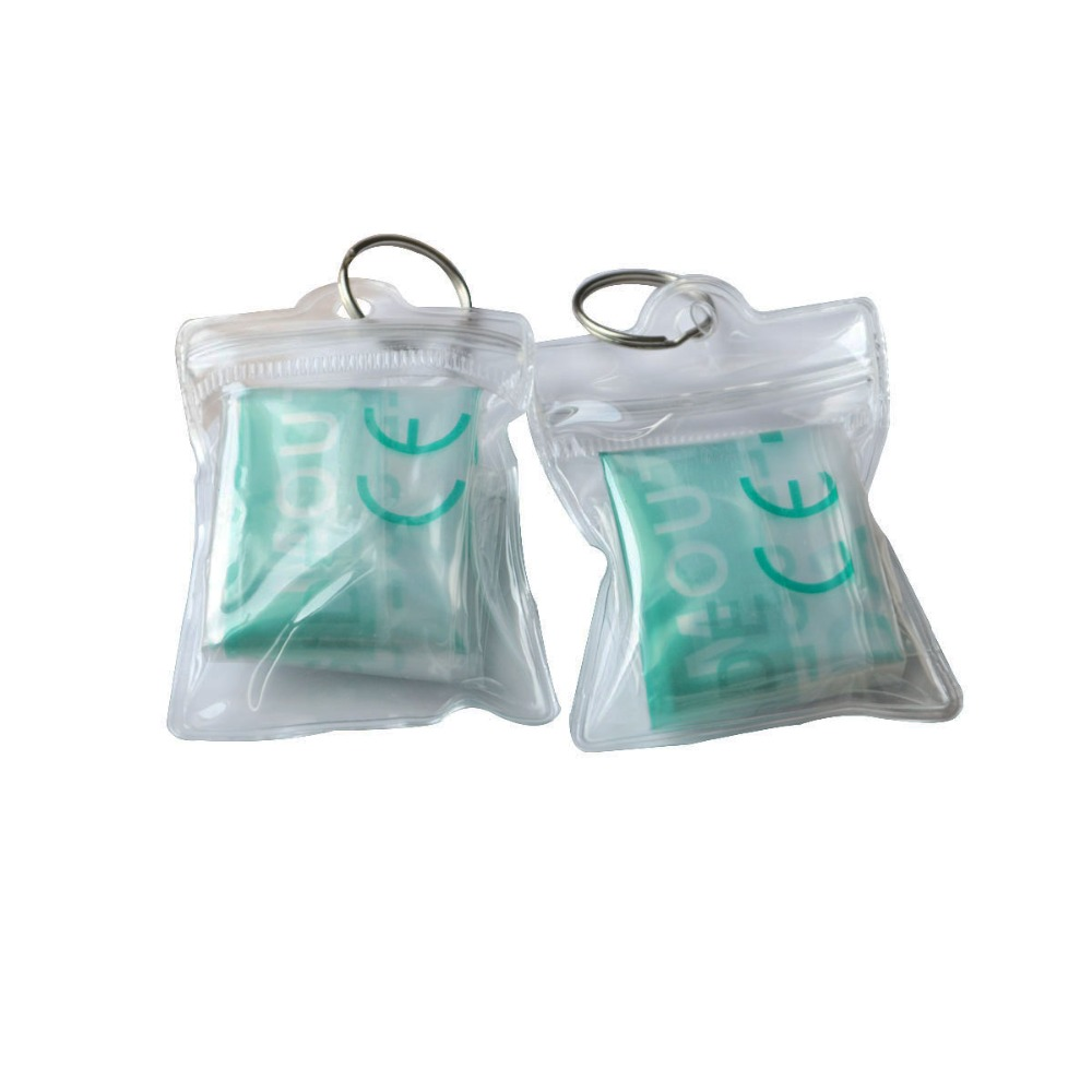 Wholesale 1000Pcs/Pack PVC CPR Resuscitator Rescue Mask Emergency Face Shield First Aid CPR Mask With Keychain Transparent Pouch 180pcs pack cpr mask cpr face shield with one way valve keychain keyring mask for emergency rescue first aid survival kits
