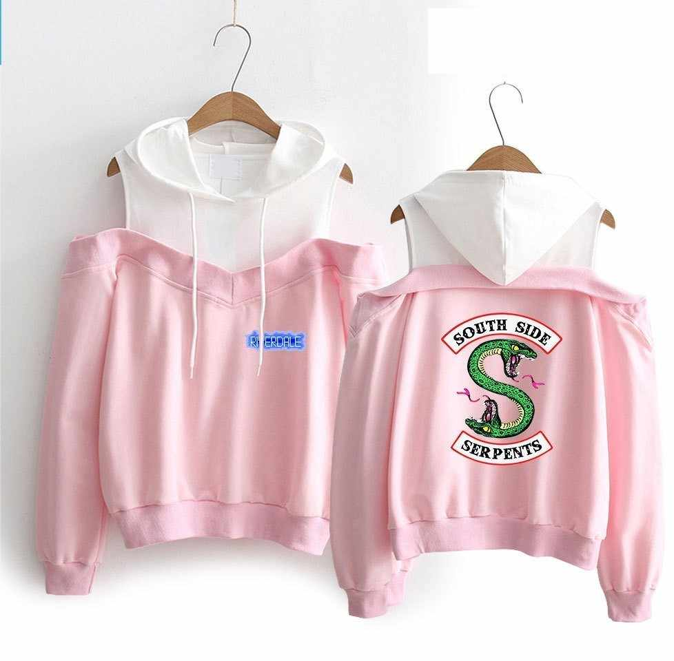 Riverdale Hoodie Sweatshirts Woman South Side Serpents Harajuku Riverdale SouthSide Pullover Sweatshirt Hoodies Girls Women Suit
