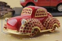 fashion car shape jewelry box vintage Car Model Trinket Box Metal Car Pewter Jewelry Box for Home Decorative Gift Box