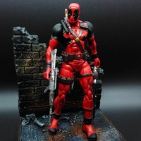 Deadpool Action Figures Anime Movie Game Toys 7inch PVC Movable Joints Deadpool Model Toys Figure With Scene