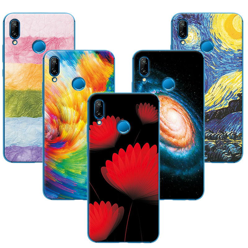 Fitted Cases Phone Bags & Cases Sunny For Huawei P20 Lite Silicone Phone Case Cover For Huawei P20 Lite Cute Novelty Painted Covers Cases On P20lite 5.84 Back Fundas