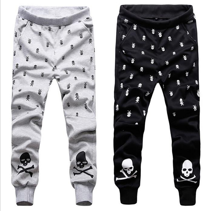 skull pattern lover harem pants joggers fashion men. Black Bedroom Furniture Sets. Home Design Ideas