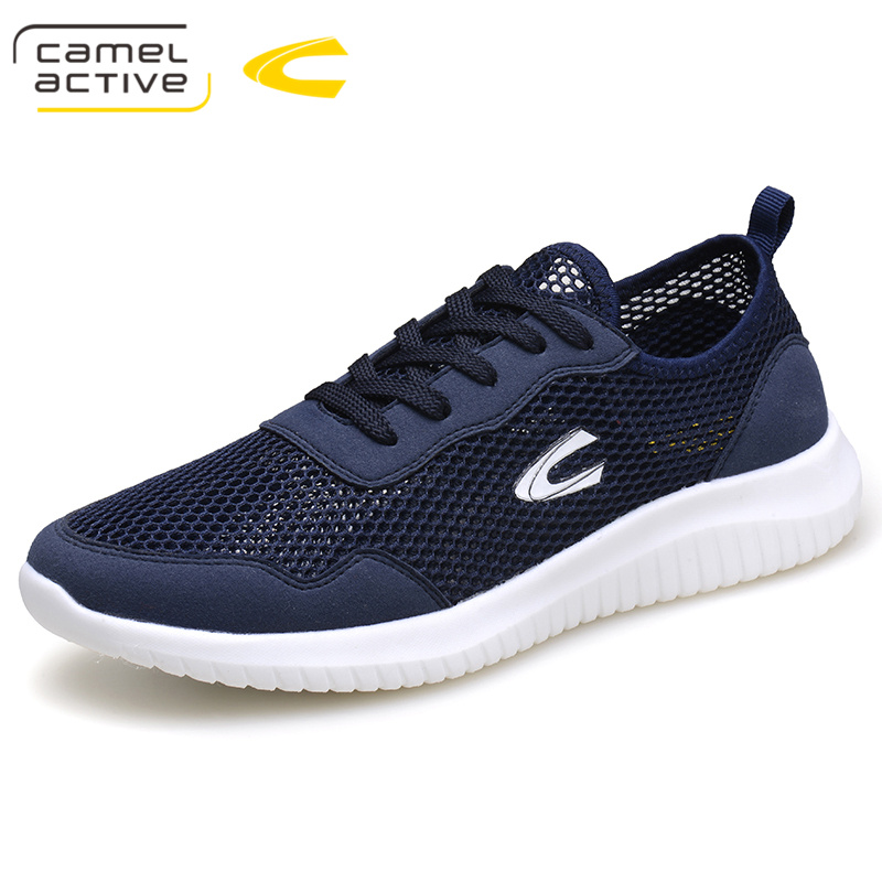Camel Active 2018 Summer Sneakers Breathable Casual Shoes Fashion Comfortable Lace up Men Sneakers Mesh Flats Shoes Plus Size 44 men s leather shoes vintage style casual shoes comfortable lace up flat shoes men footwears size 39 44 pa005m