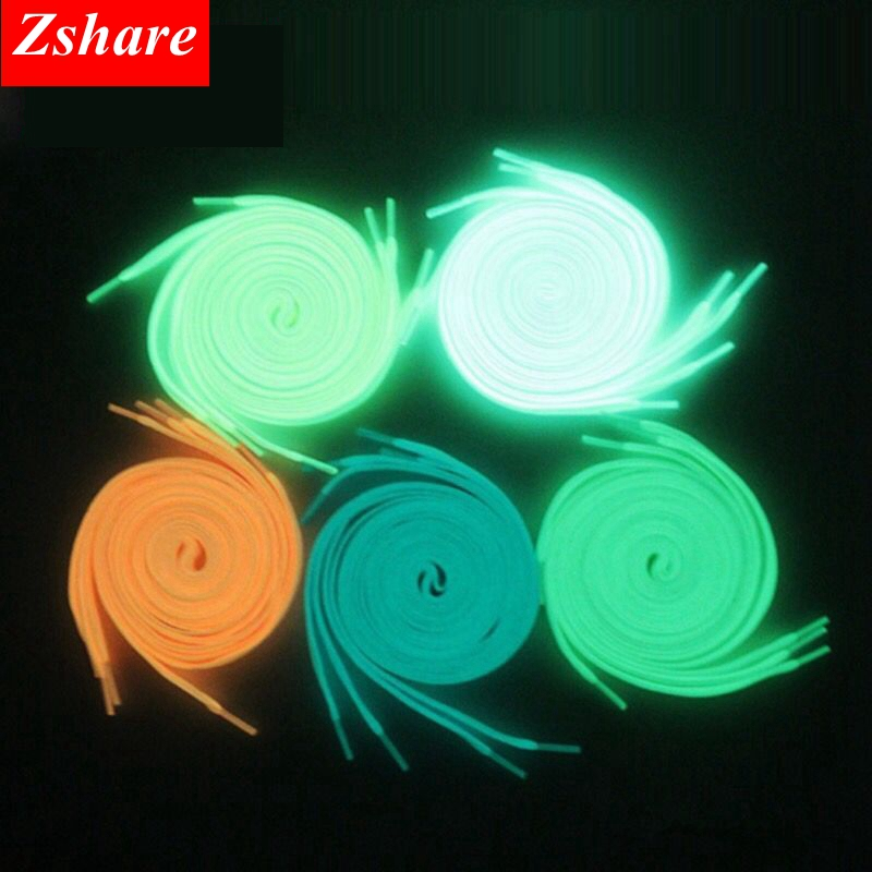 1 Pair Luminous Shoelaces Sports Flat Shoes Laces Kids Adult Glow In The Dark Night Fluorescent Shoelace 80/100/120/140cm YG-2