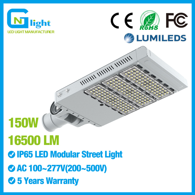 Led Lamps Street Lights 150w Parking Lot Light Outdoor Pole Fixture Lamp With Driver