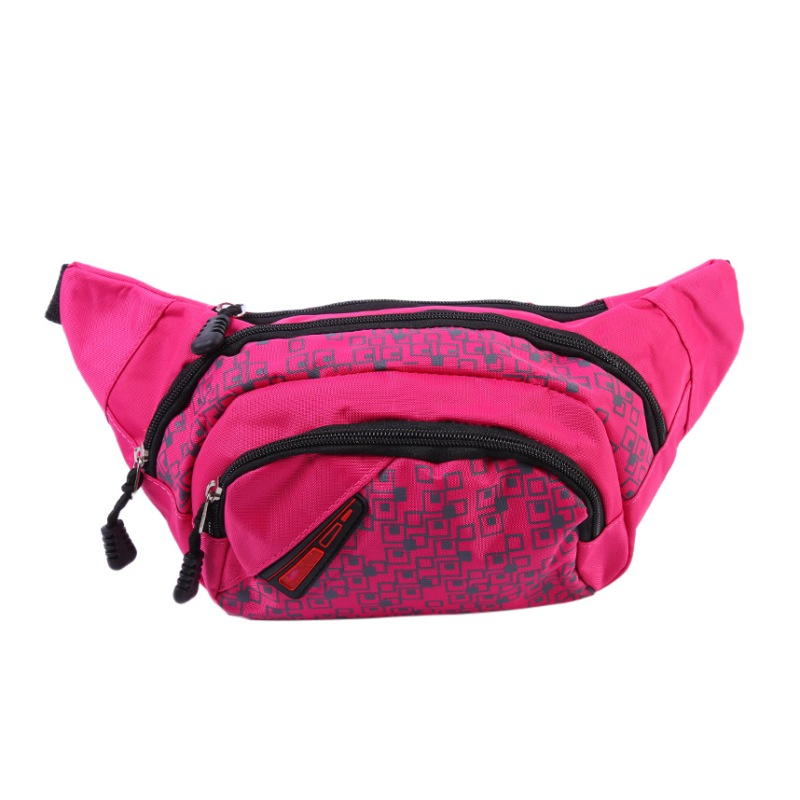 Waist Bag 3-Zipper Fanny Pack Bag Adjustable Strap Running Fitness Cycling Hiking Travel Camping Sports