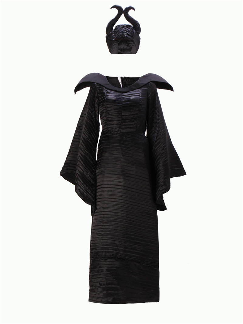 <font><b>Halloween</b></font> Party <font><b>Adult</b></font> <font><b>Women</b></font> Fantasia <font><b>Sexy</b></font> Maleficent Costume Sleeping Beauty Evil Witch Cosplay Fancy Dress image