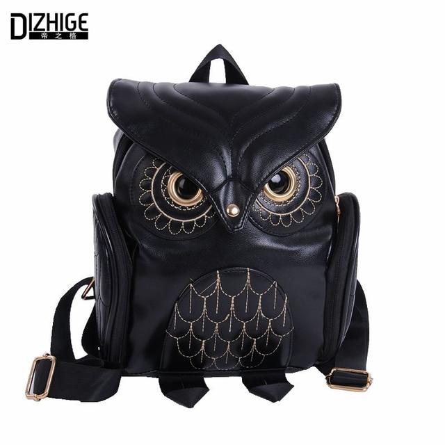 438d1fe546 Fashion Cute Owl Backpack Women Cartoon School Bags For Teenagers Girls PU  Leather Women Backpack 2016 Brands Mochila Sac A Dos