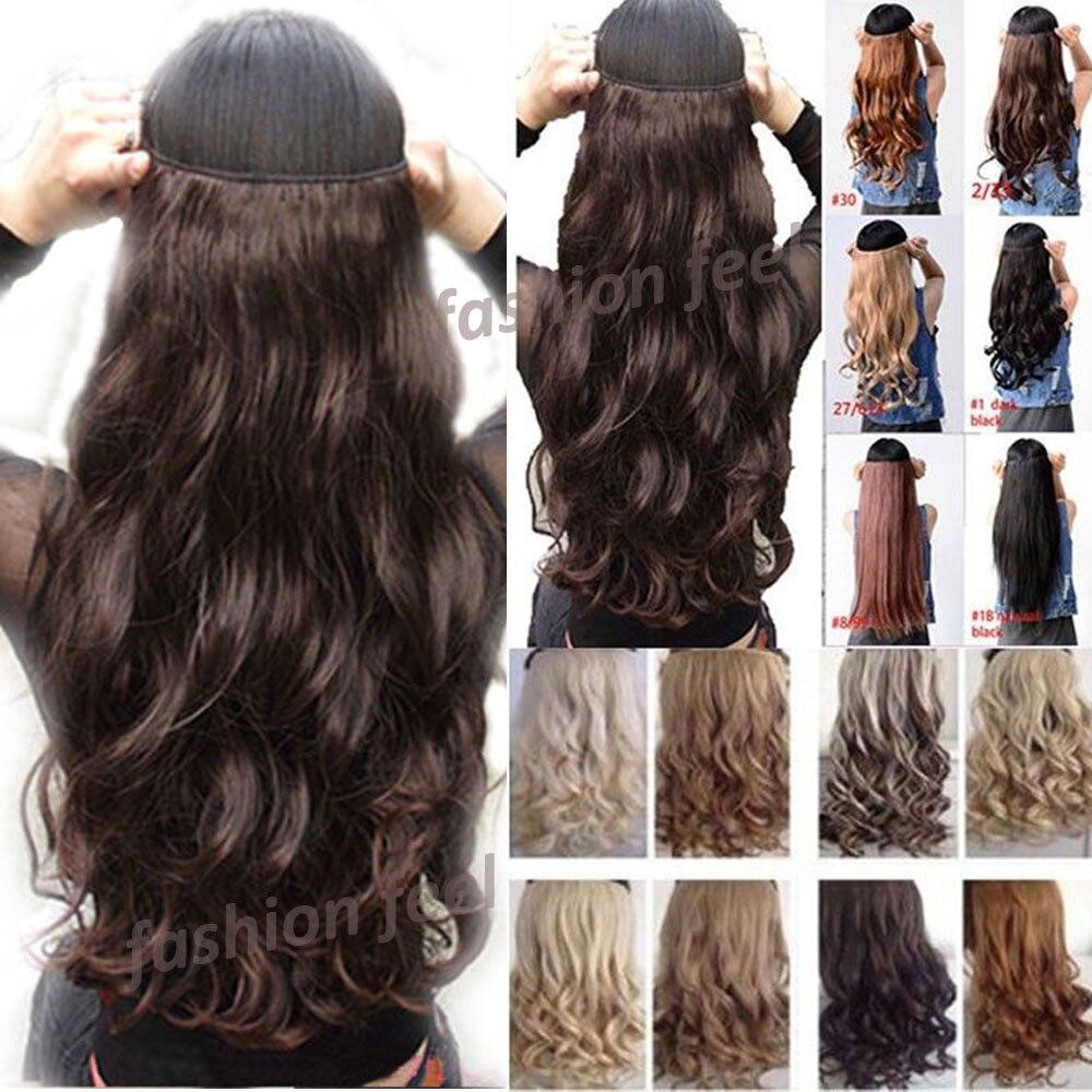 natuurlijke krullend golvend haar clip in op hair extensions 29