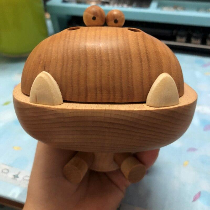 Grande bouche en bois Dragon hêtre bois Art jouet cadeau d'anniversaire Original conçu décoration chêne dessin animé Dragon - 3