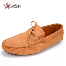 XGVOKH Men Driving Shoes Casual Spring autumn Men's Loafers Slip On Mocassins Split Leather Shoe zapatos mocassin homme