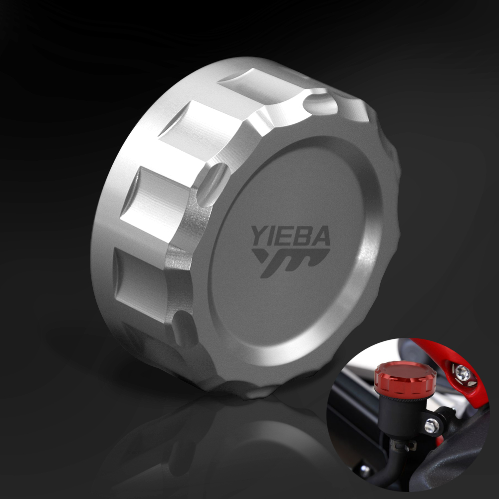 Motorcycle Rear Brake Master Cylinder Fluid Reservoir Cover Cap For Kawasaki NINJA ZX6R ZX-6R ZX 6R 2013-2016 <font><b>2008</b></font> 2007 <font><b>ZX10R</b></font> image