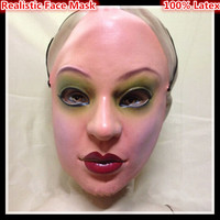 Free Shipping Party Cosplay Female Mask Latex Silicon Realistic Human Skin Masks Party Dance Masquerade Cosplay