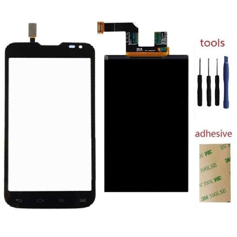 For LG Optimus L70 D325 D321 D320 LCD Display Screen + Touch Screen Digitizer Sensor + Adhesive + Kits