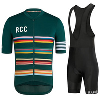 RCC Raphp 2019 cycling jersey short sleeve bib pants kit bycycle pro team roupa ciclismo fietskleding wielrennen zomer heren set