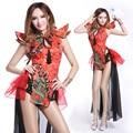 2016 new sexy bodysuit Ds traje do vintage do estilo Chinês sexy dj desgaste desempenho cantora twirled roupas dancer mostrar bar