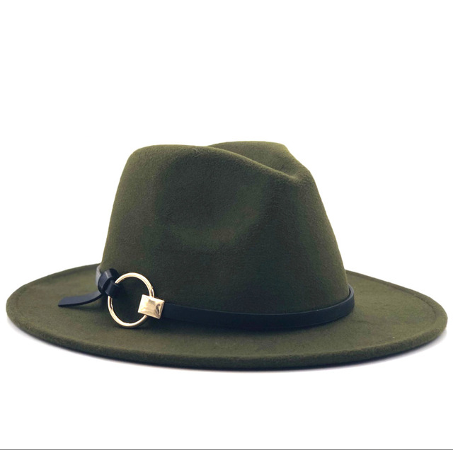 Wool Fedora Hat Hawkins Felt Cap Wide Brim Ladies Trilby Chapeu Feminino Hat  Women Men Jazz Church Godfather Sombrero Caps 22534f1158b2