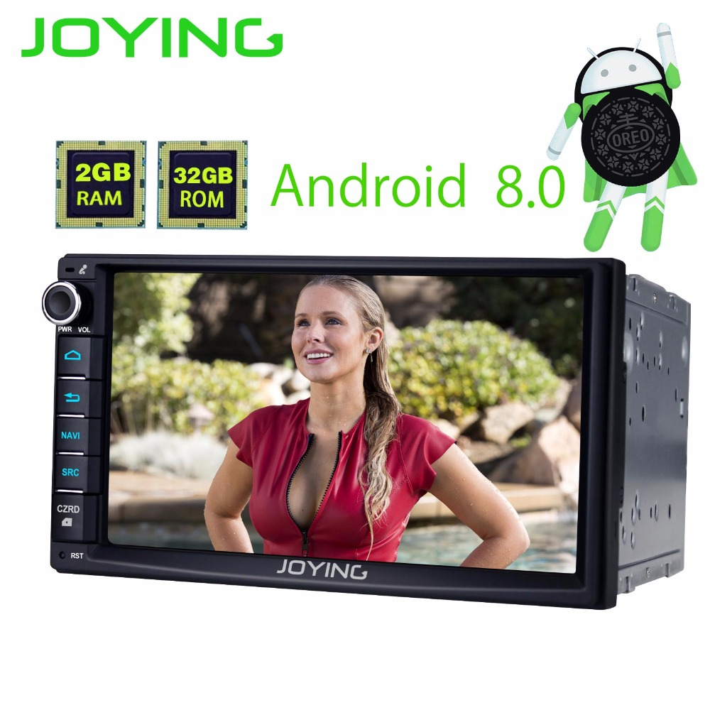 New 2G+32G Android 8.0 Quad Core Universal Car Audio Stereo GPS Navigation Double 2 Din 1024*600 HD Car Radio Multimedia Player klyde 8 2 din android 8 1 8 core 1024 600 car radio for nissan juke car audio stereo multimedia player