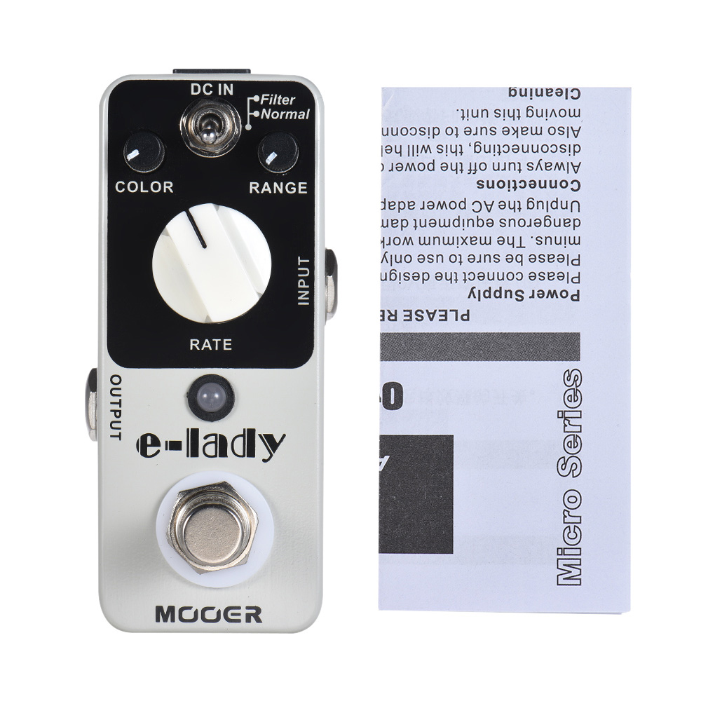 High Quality MOOER e lady Analog Flanger Guitar Effect Pedal 2 Modes True Bypass Full Metal
