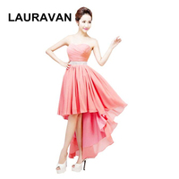 watermelon coral party new arrivals 2019 women sweetheart high low bridesmaid dresses maxi plus size special occasion dress