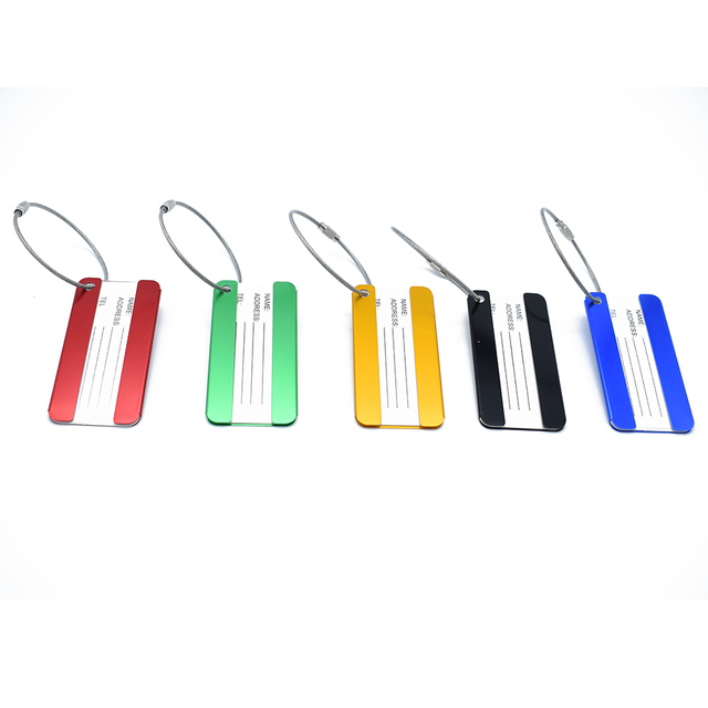1PC Aluminum alloy Funky Travel Luggage Label Straps Suitcase Name ID Address Tags Luggage Tags Travel Accessories Bag Parts & Accessories