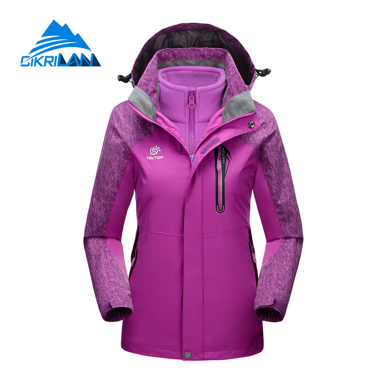 dd0aebc85 Hot Sale Outdoor Hiking 2in1 Ski Jacket Women Winter Windstopper Water  Resistant Coat With Fleece Inner Camping Chaquetas Mujer-in Hiking Jackets  from ...