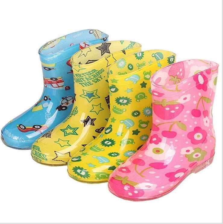 2019 primavera crianças botas de chuva sapatos de borracha bonito dos desenhos animados do bebê botas meninos meninas botas moda sapatos de chuva