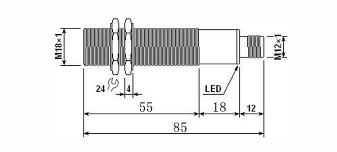 Capteur analogique de haute précision M18 capteur de Distance à ultrasons 0-5 V/0-10 V/1-5MA/4-20MA détecteur de mouvement capteur de proximité - 6