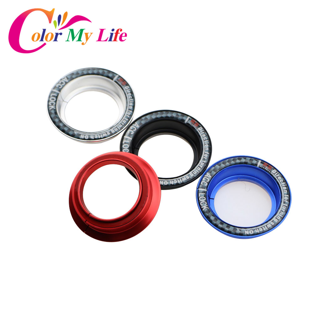 Color My Life Stainless Steel Ignition Key Switch Ring Cover Key Hole Circle Sticker For Ford Focus 2 3 4 MK2 Kuga Escape Mondeo