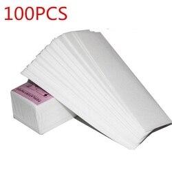 100 шт. Нетканая ткань для удаления тела, коврик для волос, бумажные полоски, воск для салона, спа-ног
