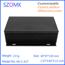 szomk 1 piece aluminum pcb project circuit box instrument enclosure case electronic diy 40*97*130mm