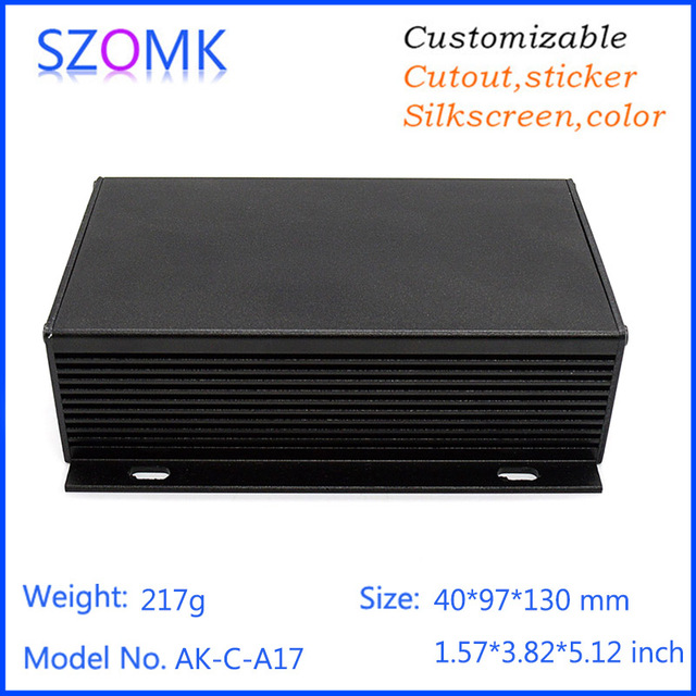 szomk 1 piece aluminum pcb project circuit box instrument enclosure ...