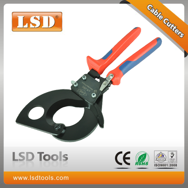 ФОТО Cable Cutting Pliers two-step ratchet cutter for cutting HV/MV cables max 380mm knife LK-280