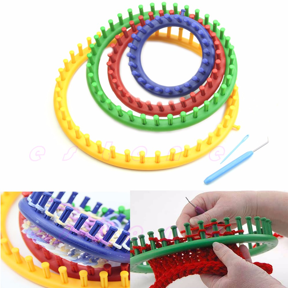 Round Circle Hat Classical Knitter Knifty Knitting Knit Loom Kit 14cm 19cm 24cm