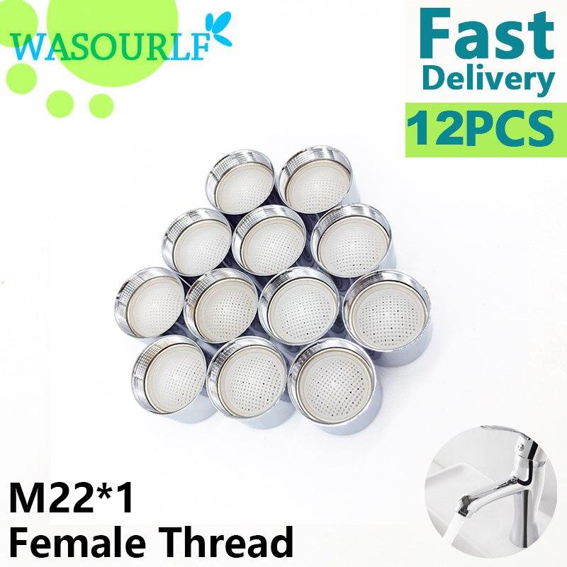 Аэратор для крана WASOURLF, 12 шт., хорошее качество, M22 * 1, 22 мм, с сердечником из нержавеющей стали 304, латунный корпус