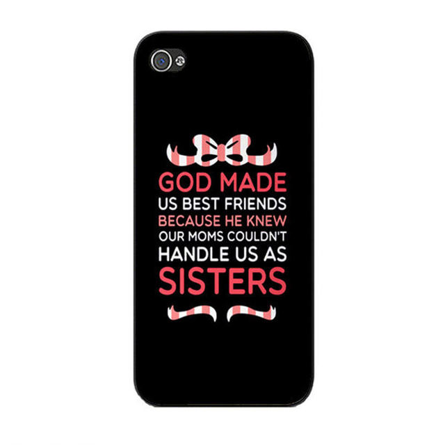 Cute Best Friend Quotes Cute God made us best friends quotes plastic phone cases for  Cute Best Friend Quotes