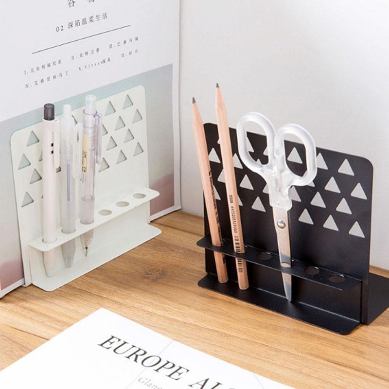 Creative Design Wrought Iron Desktop Bookends With Pen