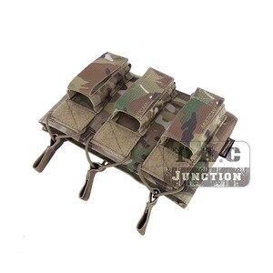 Image 5 - حقيبة إيمرسون التكتيكية الثلاثية المفتوحة 5.56 & مسدس مجلة الحقيبة ايمرسونجير مول/PALS ماج الحقيبة الحافظة الناقل Airsoft العسكرية