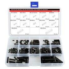360Pcs Steel Split Spring Dowel Tension Roll Pin Metal Hardware Assortment Kit цены онлайн