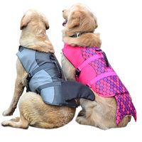 Summer Pet Dog Swimwear Vest Safety Life Jacket for Dogs Clothes Pet Dog Coats Jackets Labrador Clothes Pet Swimsuit 1ay20Q