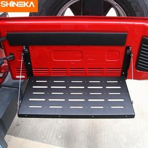 Image 4 - SHINEKA Metal Flexible Tailgate Table Rear Trunk Door Rack Cargo Luggage Holder Carrier Shelf For Jeep Wrangler JK 2007 2017